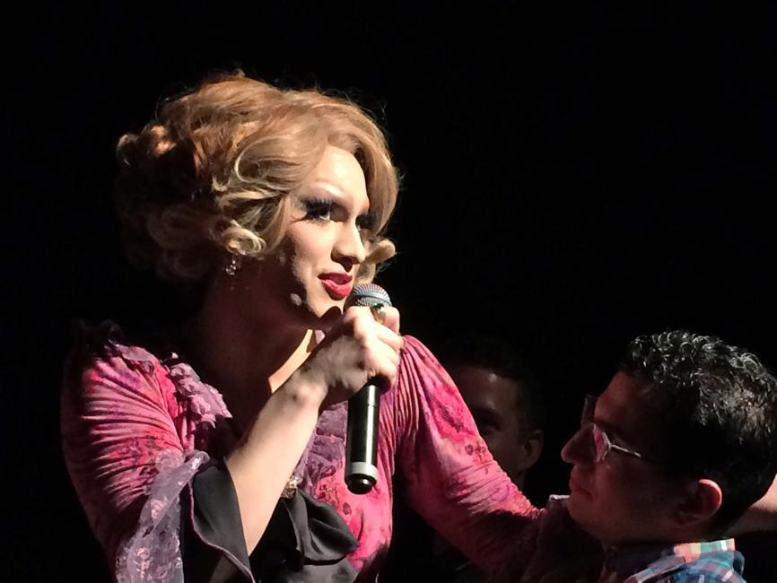 Jinkx Monsoon, an award-winning drag queen, performed in a show in Provincetown.